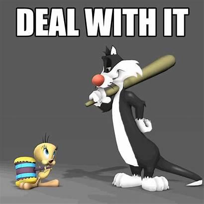 Tunes Looney Sylvester Mayhem Tweety Deal Giphy