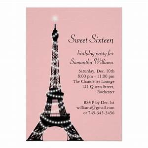 Sweed Paris : eiffel tower sweet sixteen invitation sweet sixteen pinterest turquoise sweet 16 and towers ~ Gottalentnigeria.com Avis de Voitures