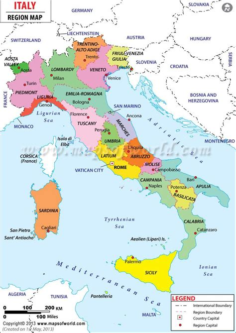 map  italy showing cities  large images travel
