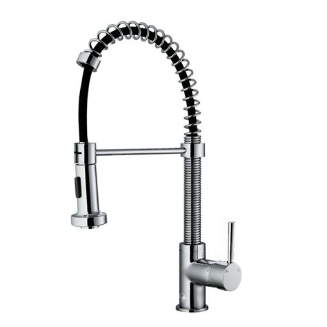 kitchen faucet pull out sprayer vigo single handle pull out sprayer kitchen faucet in chrome vg02001ch the home depot