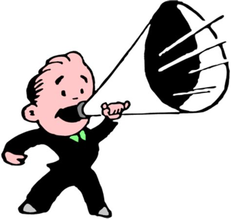 Image result for pics cartoon Man Scream Through A megaphone