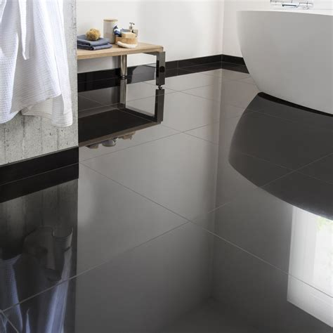 cuisine cristal carrelage sol et mur noir effet uni l 60 x l 60 cm leroy merlin