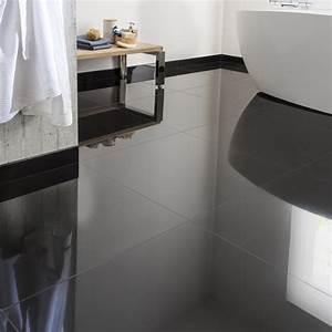 carrelage sol et mur noir effet uni crystal l60 x l60 cm With carrelage adhesif salle de bain avec led visage a domicile