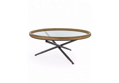 Tanner 48 rectangular coffee table. round-wood-with-glass-tripod-base-coffee-table
