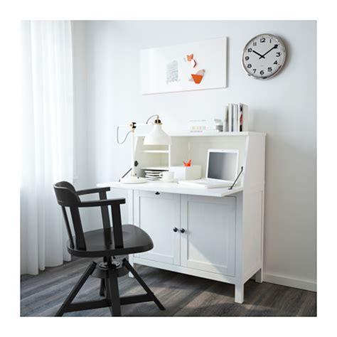 bureau secr騁aire ikea hemnes bureau white stain 89x108 cm ikea