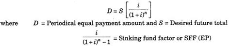 sinking fund formula calculator essay on interest annuities and profit