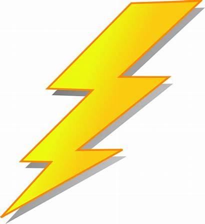 Lightning Clip Vector Clipart Flash Clker Rayo