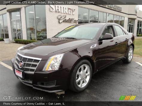 2008 Cadillac Cts Awd by Black Cherry 2008 Cadillac Cts 4 Awd Sedan Light