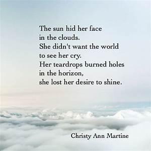 Teardrops poem by Christy Ann Martine - sad poems ...