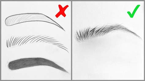easy tips  drawing realistic eyebrows basic mistakes