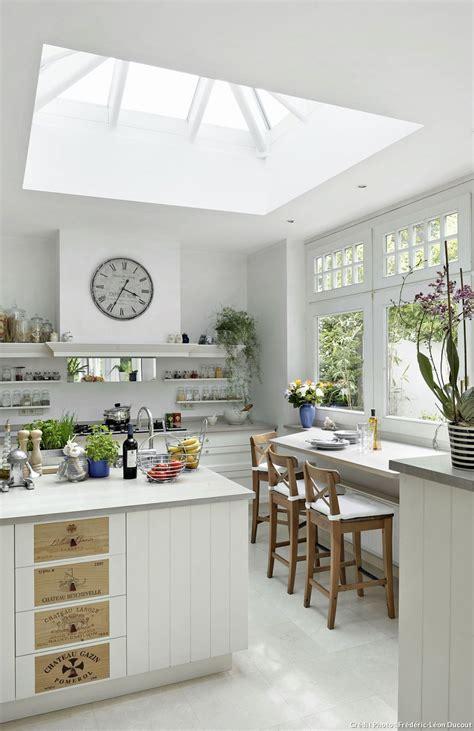 mi bois cuisine white cabinets galerie avec cuisine blanche bois photo
