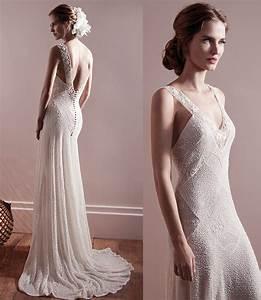 sheath vintage lace wedding dress open back ipunya With vintage sheath wedding dresses