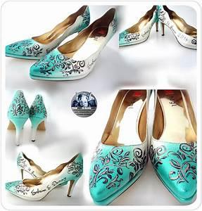 Schuhe Für Hochzeit : schuhbemalungen brautschuhe hochzeitschuhe bemalt bemalte schuhe f r die hochzeit braut ~ Buech-reservation.com Haus und Dekorationen