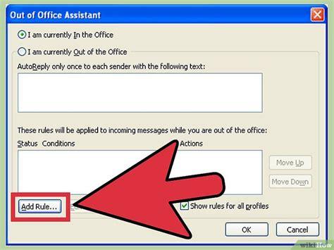 absence du bureau outlook 4 ères de utiliser le gestionnaire d 39 absence du bureau