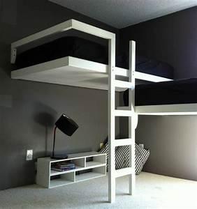 Lit Mezzanine Dressing : lit mezzanine la solution pour les petits espaces ~ Premium-room.com Idées de Décoration