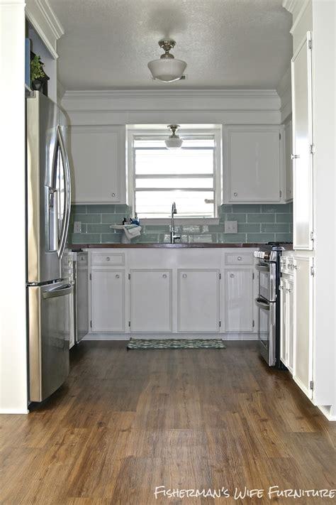 Remodelaholic  Small White Kitchen Makeover With Builtin
