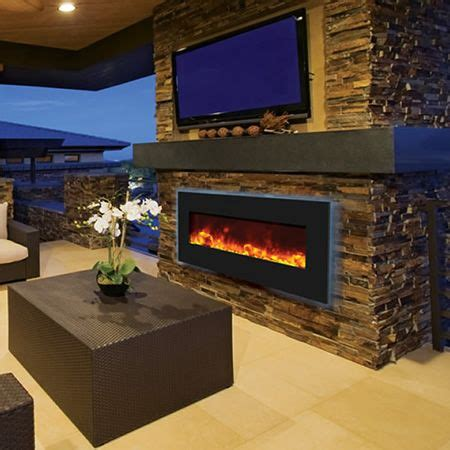 outdoor electric fireplace 25 best outdoor electric fireplaces images on pinterest