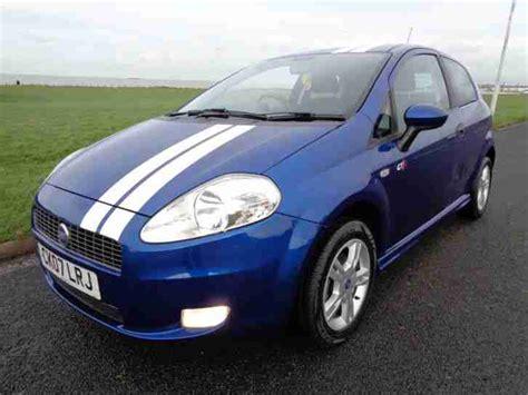 fiat  grande punto active blue white stripes car  sale
