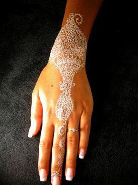 stunning white henna designs