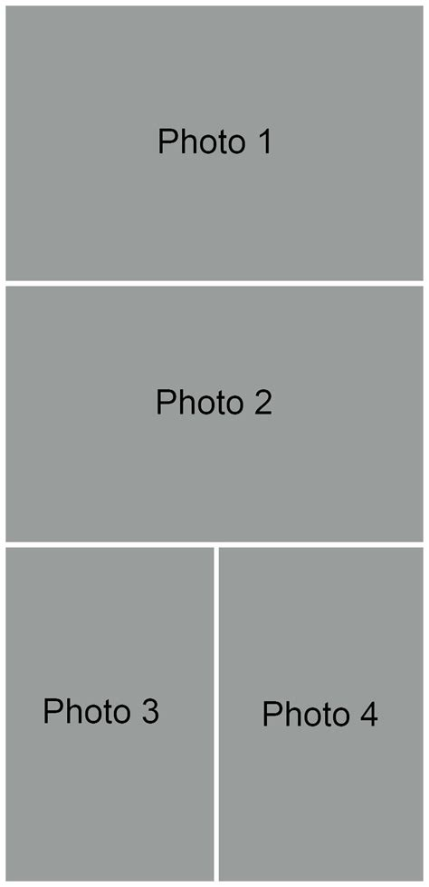 4 Picture Collage Template by Picture Collage Template Free Photoshop Image Collage