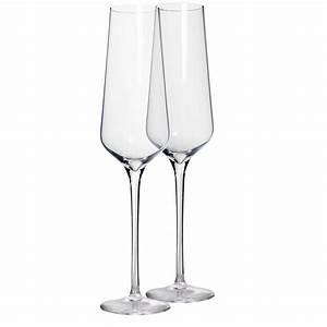Flute A Champagne : set of 2 tall crystal champagne glasses martinka crystal ~ Teatrodelosmanantiales.com Idées de Décoration