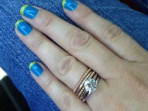 stackable rings lets see pics weddingbee With stacked wedding rings weddingbee
