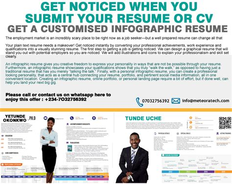 get noticed with an infographic resume vacancies