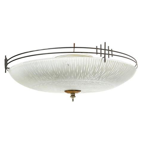 deco style black metal large flush mount ceiling light