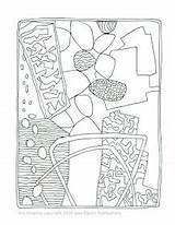 Coloring Collage sketch template