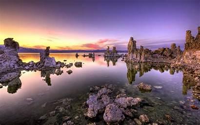 4k Ultra Nature Landscape Background Lake Sunset