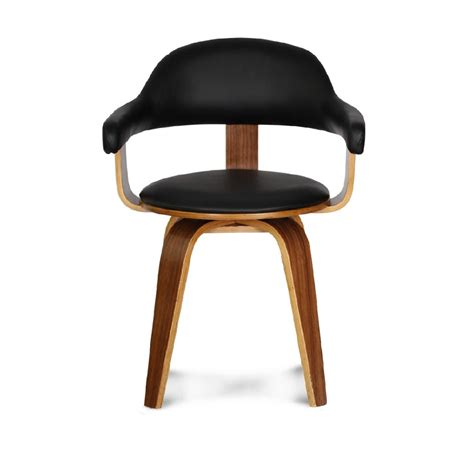 chaise pivotante design noir mooviin