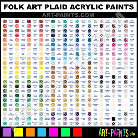 folk acrylic paint color chart crafts general