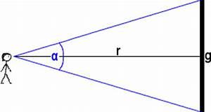 Sehwinkel Berechnen : sehwinkel bzw scheinbare gr e berechnen ~ Themetempest.com Abrechnung