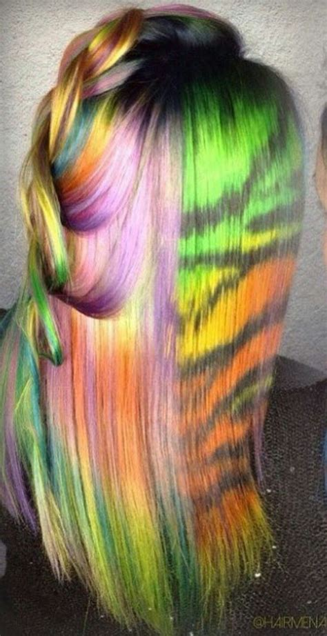 1000 Ideas About Rainbow Dyed Hair On Pinterest Crazy