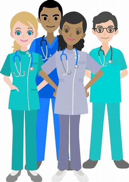 Nurses Nursing Travel Nurse Standing Three Travelnursing