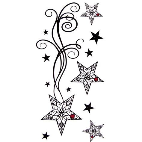 tatouage temporaire etoile filante