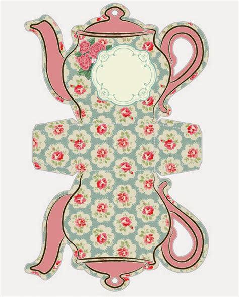 Shabby Chic Teapot Free Printable Boxes