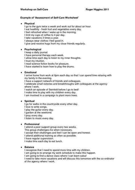 16 best images of things i like about my self worksheet