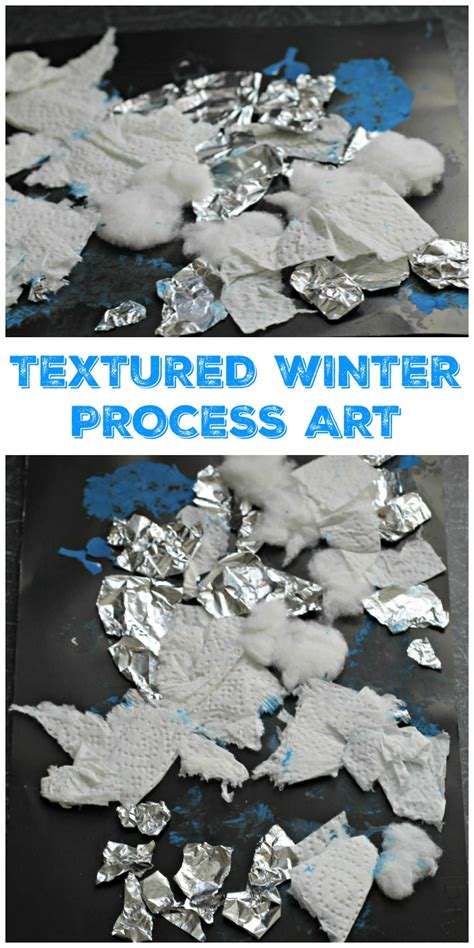 textured winter collage craft   playroom