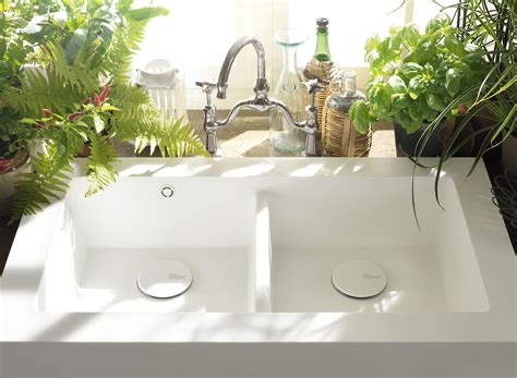 salty  integrated sink corian