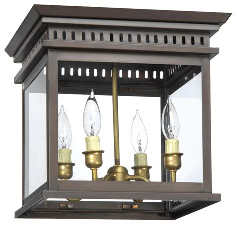 flush mounted lantern bronze lighting kitchen island
