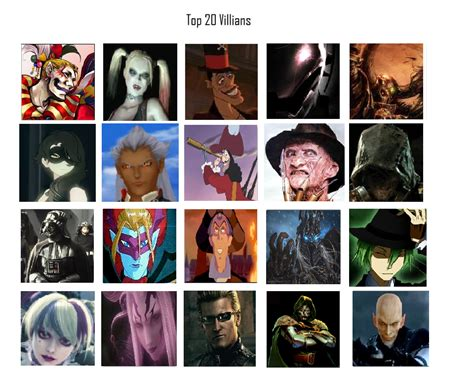 New Top 20 Villains List By Darklord62892 On Deviantart