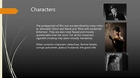 Film noir genre analysis