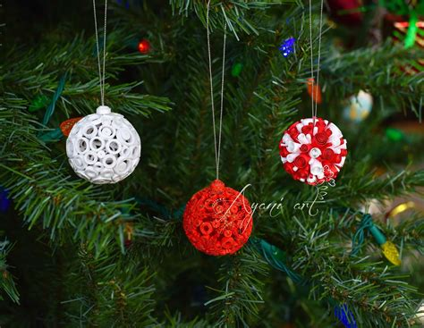 ayani art quilling christmas ball ornaments
