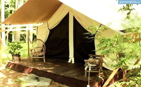 tent and table new york secluded gling canvas tent in narrowsburg new york