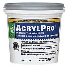 custom building products acrylpro ceramic tile adhesive