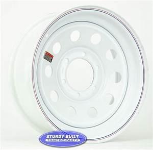 16 Inch 6 Bolt White Modular Trailer Wheel 6 On 5 1  2 Lug