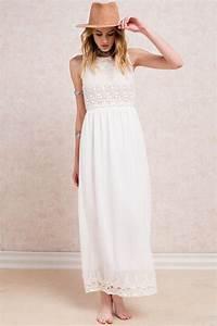 Robe Blanche Longue Boheme : robe longue blanche femme robe longue hiver pas cher mode daily ~ Preciouscoupons.com Idées de Décoration