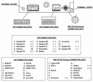 Mitsubishi W698 Head Unit Pinout Diagram   Pinoutguide Com