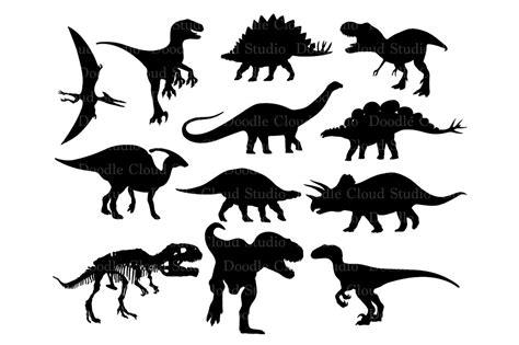 dinosaur svg dinosaur monogram files illustrations creative market